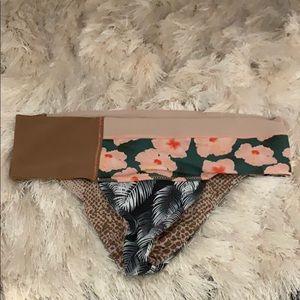 Color blocked acacia swimwear bottoms